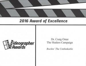 2016 dr craig and the healers videographer awards excellence